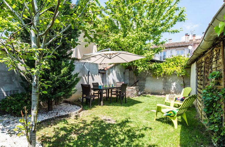 maison à vendre beaumont - le jardin