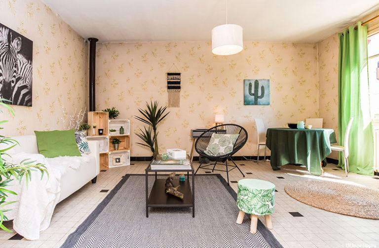 maison à vendre montech - le salon